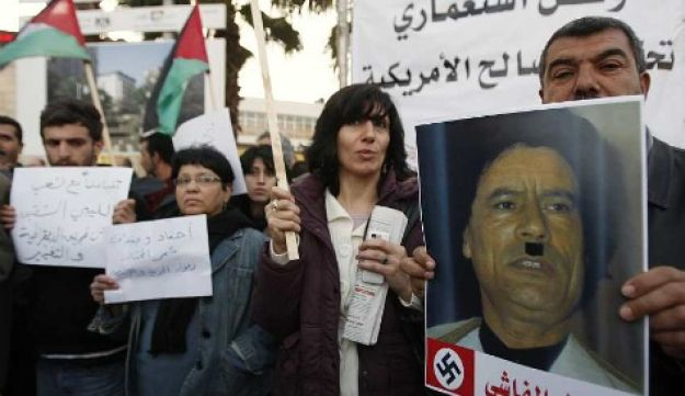Anti-Gadhafi protest in West Bank - Reuters - Feb 23, 2011