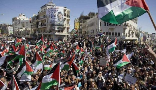 Palestinian protest March 15, 2011.