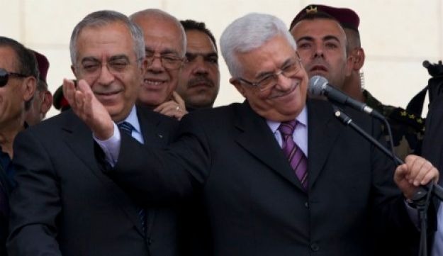Abbas and Fayyad - AP - September 25, 2011.