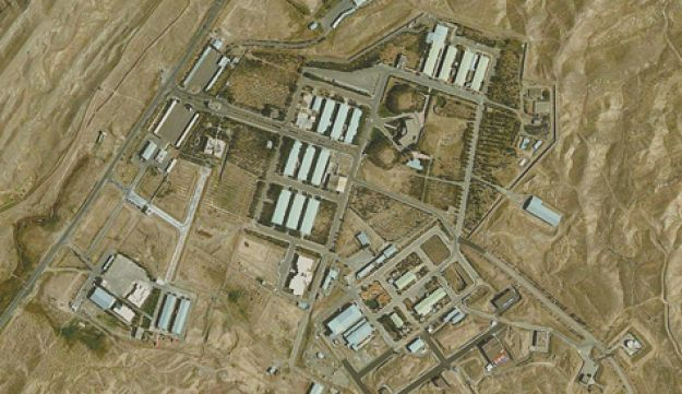 The base in Parchin where Iran conducted nuclear tests - Google Earth, GeoEye