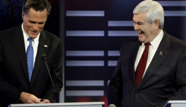 Mitt Romney and Newt Gingrich - AP - 11122011