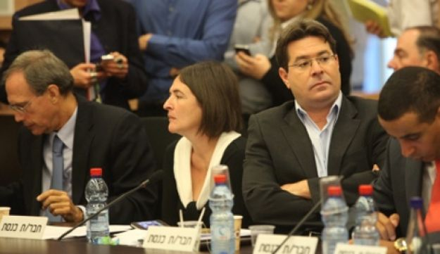 A meeting of the Knesset Finance Committee.