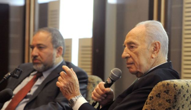 President Peres and FM Lieberman - GPO - December 27, 2011