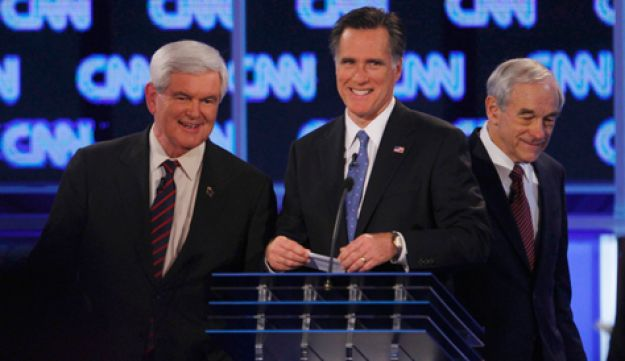 Mitt Romney and Newt Gingrich - Reuters - January 26, 2012