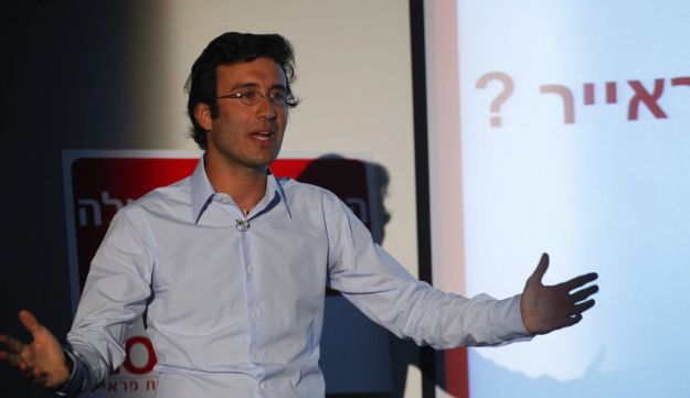 Michael Golan presenting his cellular company on May 13, 2012.