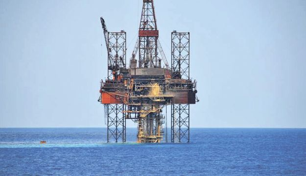 A natural gas drilling rig