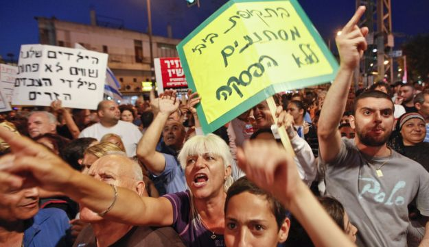 Israelis protest against African migrants in south Tel Aviv - May 23