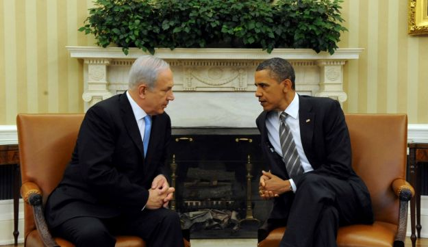 Netanyahu and Obama during a meeting at the White House.