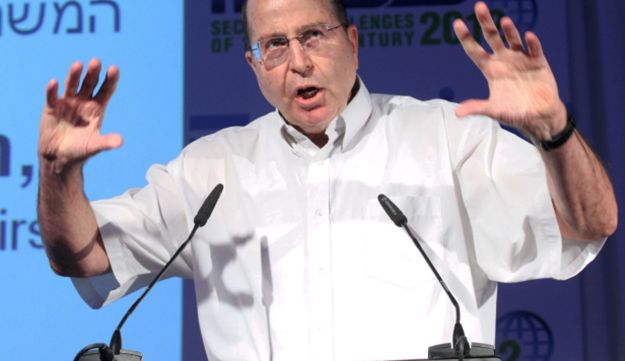 Vice Prime Minister Moshe Ya'alon speaking at annual INSS conference in Tel Aviv, May 30, 2012.