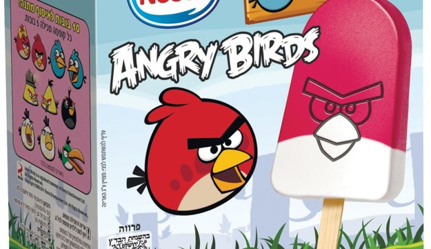 Angry Birds popsicles: A hit with children.