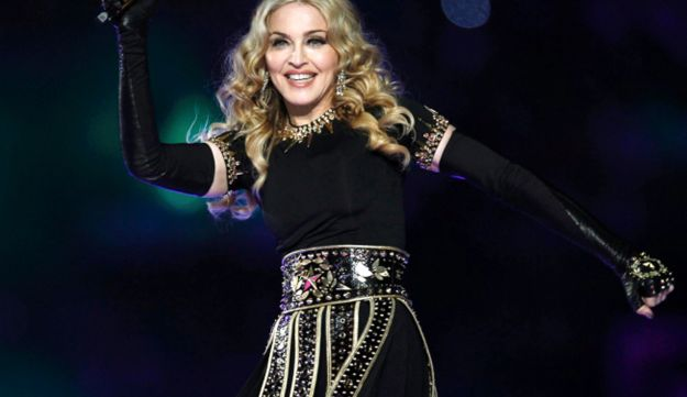 Madonna performing in Indianapolis in February.