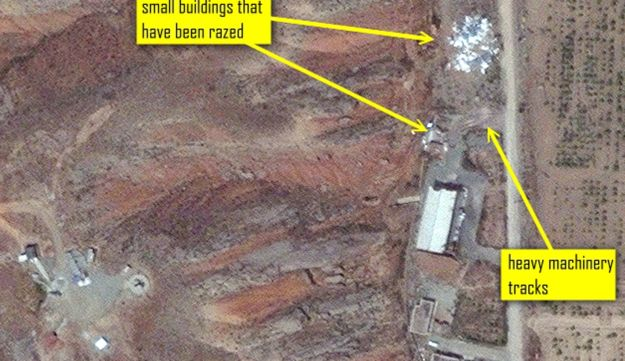 One of the images of Iran's nuclear site at Parchin, published on the ISIS website on May 30, 201