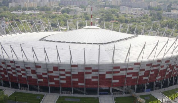The new National Stadium, ready for the Euro 2012 football games, in Warsaw, Poland, May 18, 2012.