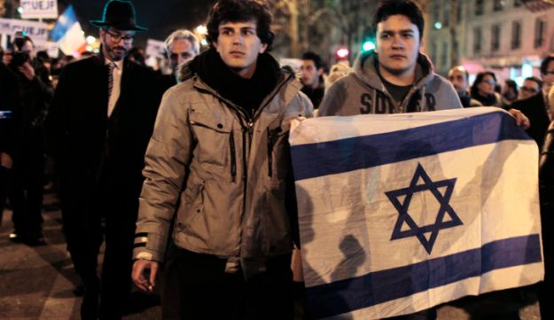 French Jews marching in Paris in March 2012.