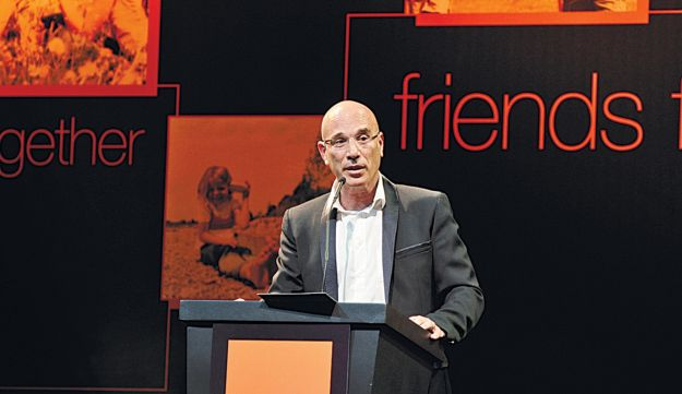 Ilan Ben-Dov in better days, representing Partner Communications, which does business as Orange.