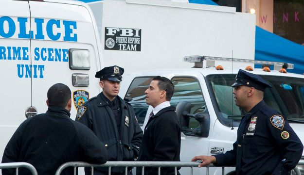 NYPD personnel in Manhattan, New York.