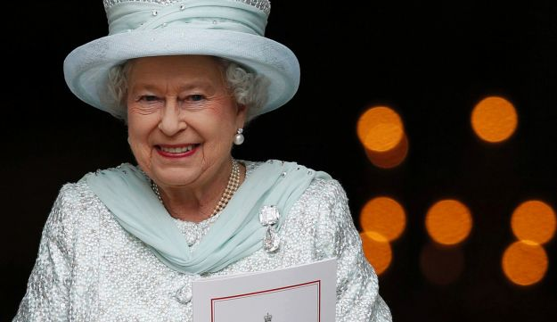 Queen Elizabeth after a thanksgiving service to mark her Diamond Jubilee, London, June 5, 2012.