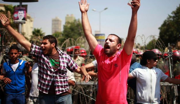 Protesters outside the Supreme Constitutional Court in Cairo, June 14, 2012.