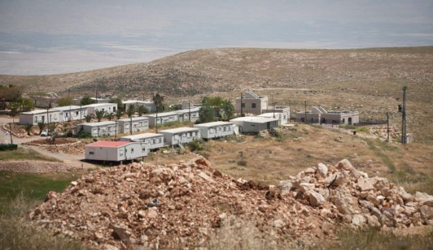 An outpost near the Mitzpe Kramim settlement in the West Bank