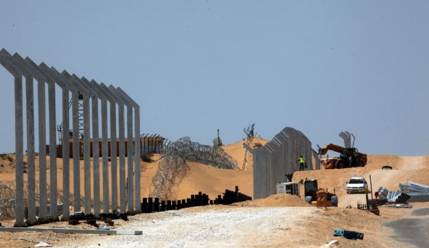 The fence along Israel's border with Egypt.