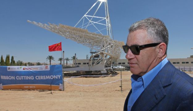 Idan Ofer attends a ribbon cutting ceremony for a solar electric plant May 8, 2012.