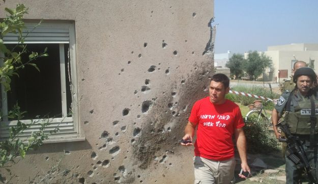 The home which was hit by a Gaza rocket in southern Israel, June 20, 2012.