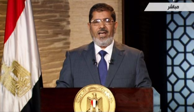 Mohammed Morsi delivers his first televised speech on Egyptian State TV