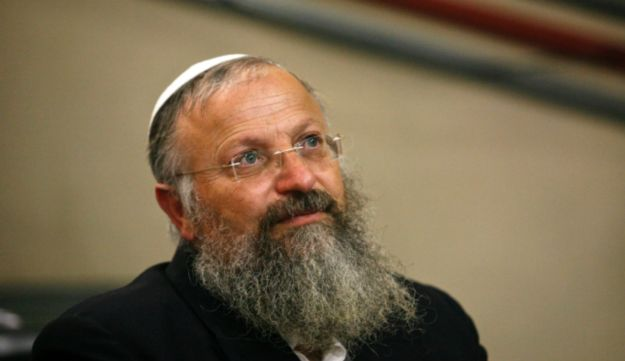 Rabbi Shmuel Eliyahu at a conference in Ramle