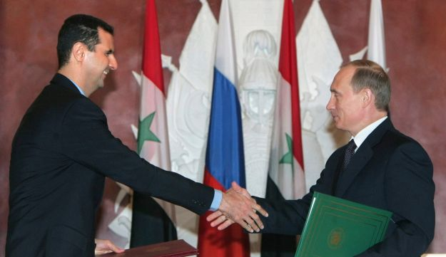 Putin and Assad -- 2005