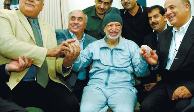 Yasser Arafat in Ramallah, just before his death in 2004.