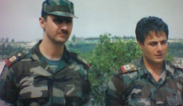Bashar Assad and Manaf Tlass in the 1990s.