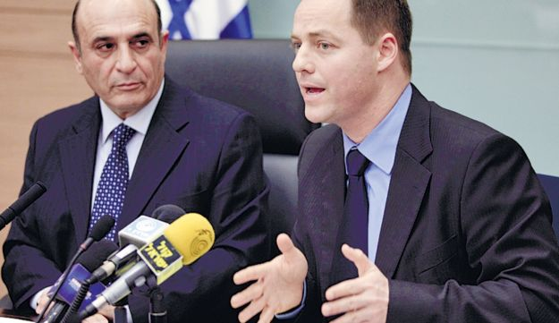 Shaul Mofaz, left, and Yohanan Plesner.