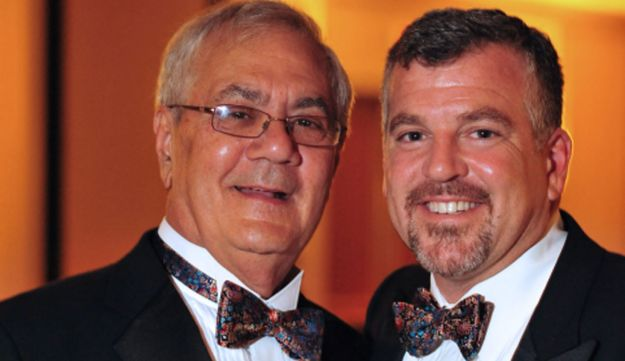 Barney Frank and Jim Ready at their wedding.