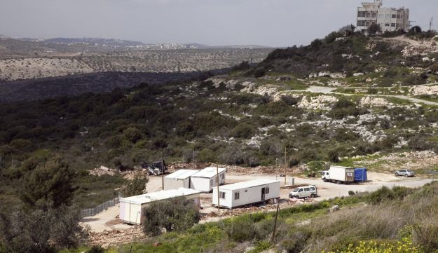 Mobile homes at the West Bank settlement outpost Ramat Gilad.