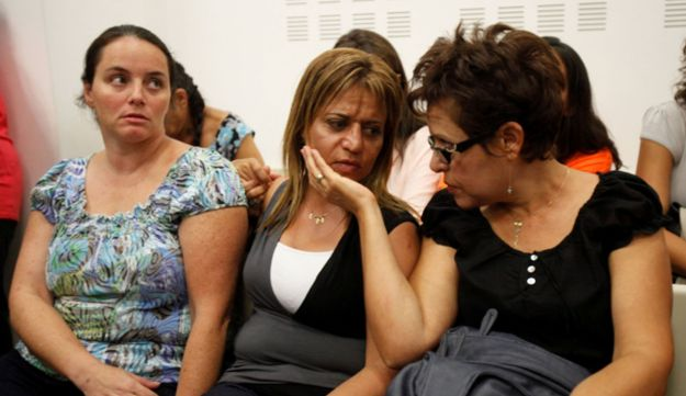 Ben Dror's ex-wife, Lilach Shem-Tov at the court prior to sentencing, July 10, 2012.