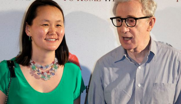 Writer and director Woody Allen and wife Soon-Yi Previn in Paris, Monday, June 25, 2012.