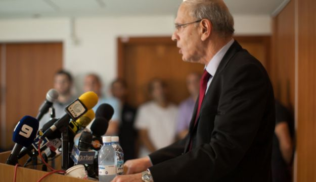 Moshe Lador during his press conference