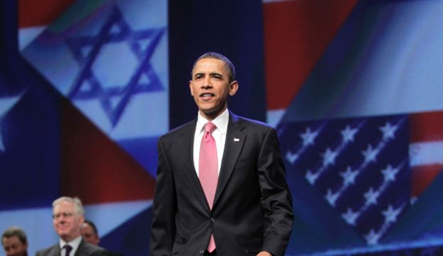 Obama at the AIPAC convention in Washington, 2011