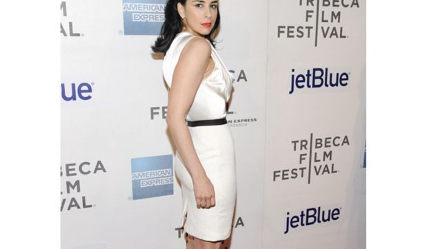 Actress Sarah Silverman attends 2012 Tribeca Film Festival on April 22, 2012 in New York.