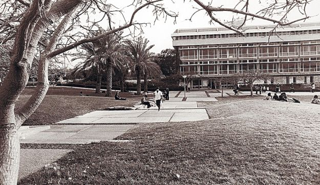 Open space at Tel Aviv University. early 1960s