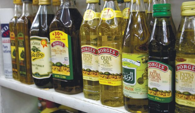 Olive oil: Higher by the bottle.