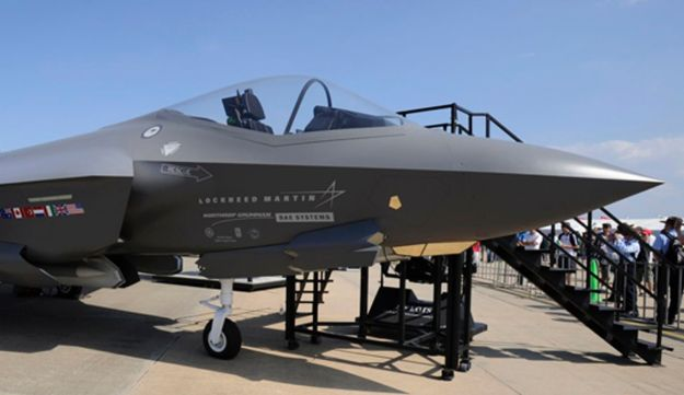 A Lockheed Martin F-35 joint strike fighter.