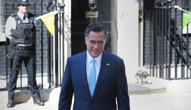 Mitt Romney in Downing Street on his recent visit to London, July 26, 2012.
