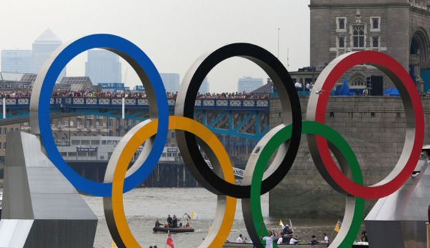 The river Thames in London, the Olympics host, July 27, 2012.