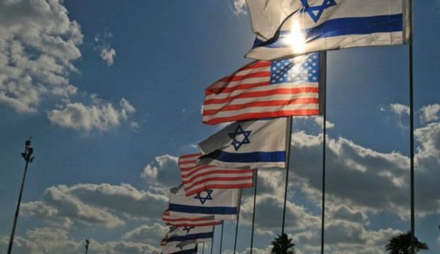 Israel and U.S. flags