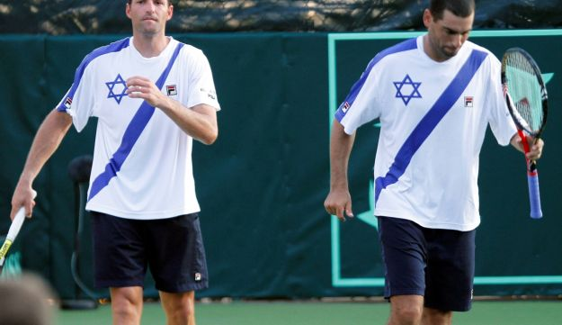 Andy Ram and Yoni Erlich in late 2011.