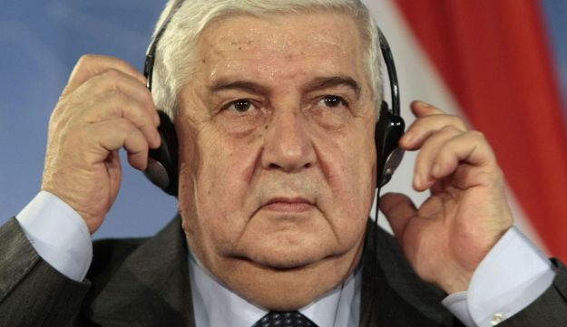 Syrian Foreign Minister Walid al-Muallem.