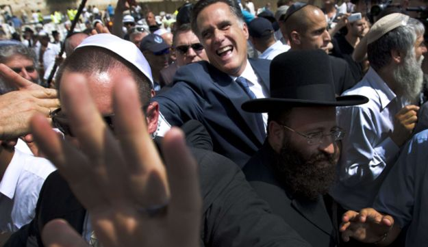 Mitt Romney in Jerusalem.