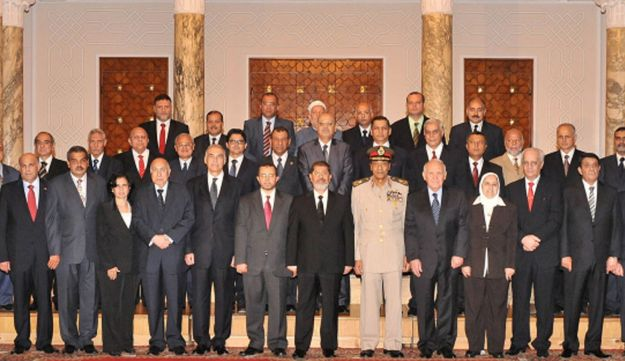 Egypt's new cabinet, August 2, 2012.