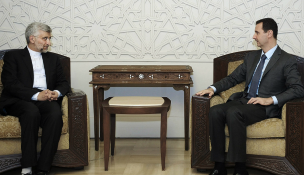 Iran's Supreme National Security Council, Saeed Jalili, meets with Syrian President Bashar Assad